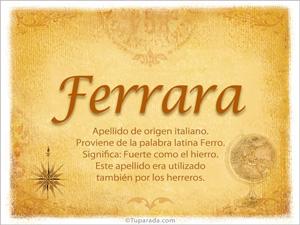 Origen y significado de Ferrara