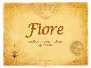 Origen y significado de Fiore