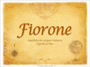 Origen y significado de Fiorone