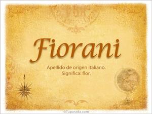 Origen y significado de Fiorani