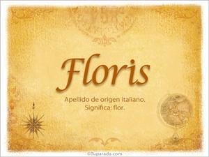 Origen y significado de Floris