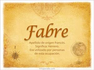 Origen y significado de Fabre