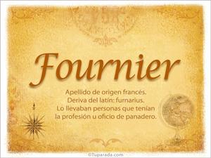 Origen y significado de Fournier