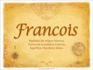 Origen y significado de Francois