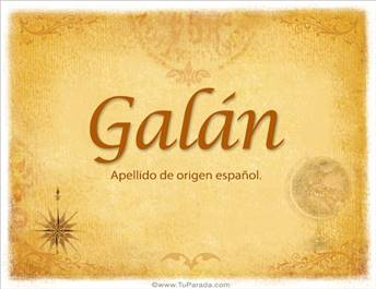 Origen y significado de Galán