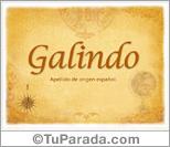 Origen y significado de Galindo