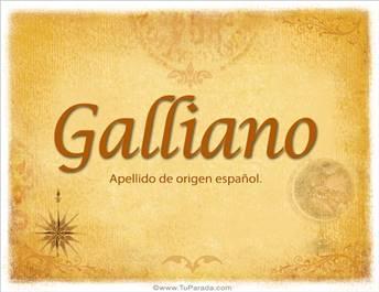 Origen y significado de Galliano