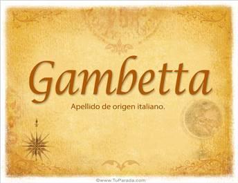 Origen y significado de Gambetta