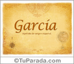 Origen y significado de García