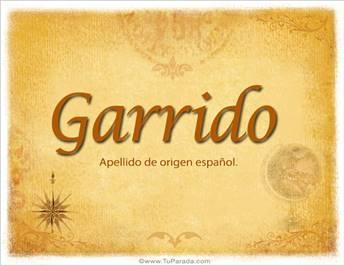 Origen y significado de Garrido