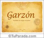 Origen y significado de Garzón