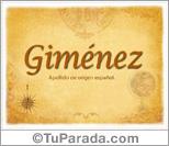 Origen y significado de Giménez