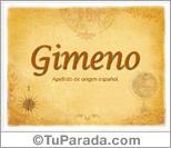 Origen y significado de Gimeno