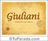 Origen y significado de Giuliani
