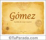 Origen y significado de Gómez