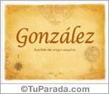Origen y significado de González