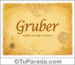 Origen y significado de Gruber