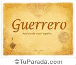 Origen y significado de Guerrero