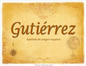 Origen y significado de Gutiérrez