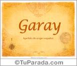 Origen y significado de Garay