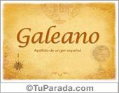 Origen y significado de Galeano