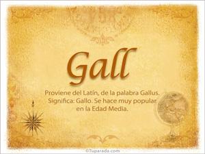 Origen y significado de Gall