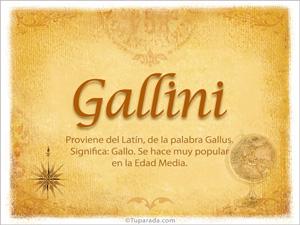 Origen y significado de Gallini