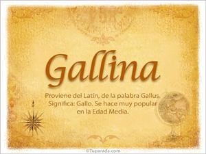 Origen y significado de Gallina