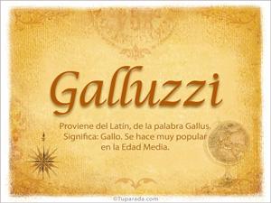 Origen y significado de Galluzzi