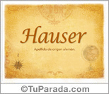 Origen y significado de Hauser