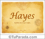 Origen y significado de Hayes