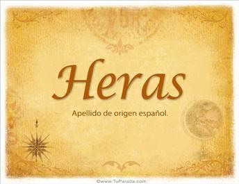 Origen y significado de Heras