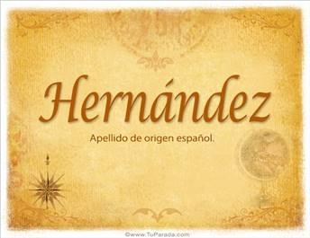 Origen y significado de Hernández