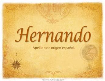 Origen y significado de Hernando