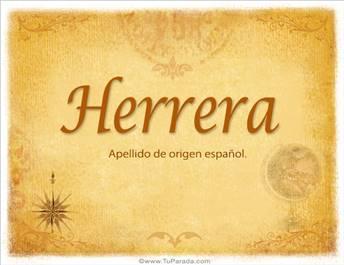 Origen y significado de Herrera