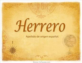 Origen y significado de Herrero