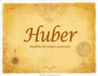 Origen y significado de Huber