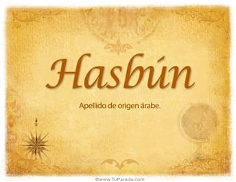 Origen y significado de Hasbún