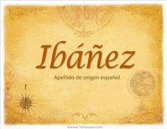 Origen y significado de Ibáñez