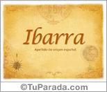 Origen y significado de Ibarra