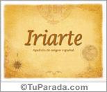 Origen y significado de Iriarte