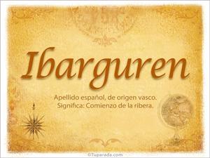 Origen y significado de Ibarguren