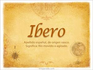 Origen y significado de Ibero