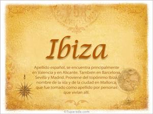 Origen y significado de Ibiza