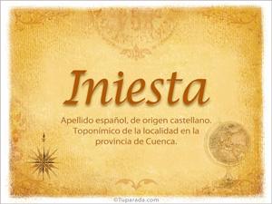 Origen y significado de Iniesta