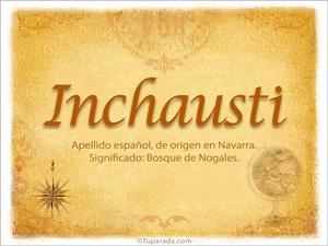 Origen y significado de Inchausti
