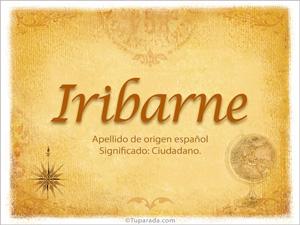 Origen y significado de Iribarne