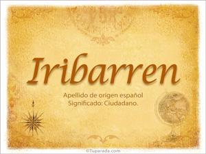 Origen y significado de Iribarren