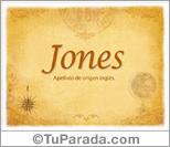 Origen y significado de Jones