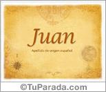 Origen y significado de Juan
